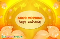 Good Morning Happy Wednesday Images